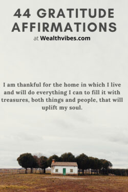 grateful for having a home gratitude affirmations