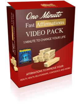 One Minute Fast Affirmations Video Pack