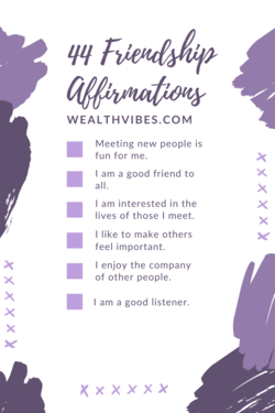 44 Friendship Affirmations