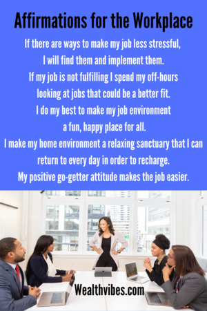positive affirmations for workplace employees