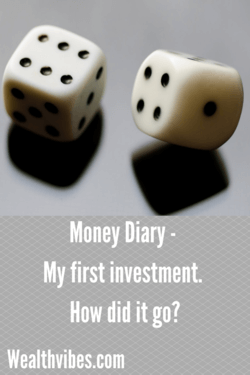 my first investment money diary
