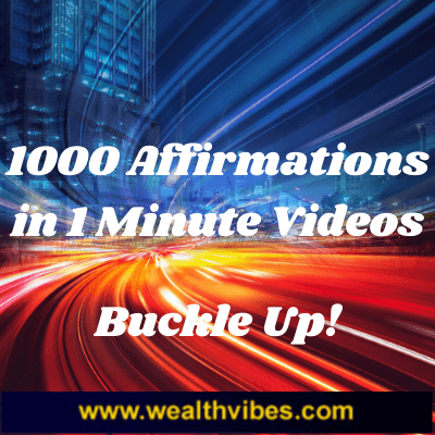1000 Affirmations in 1 Minute Videos