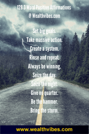 3 word positive affirmations quotes and sayings