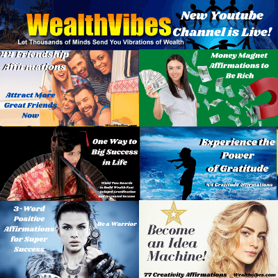 Wealthvibes new youtube video channel is live