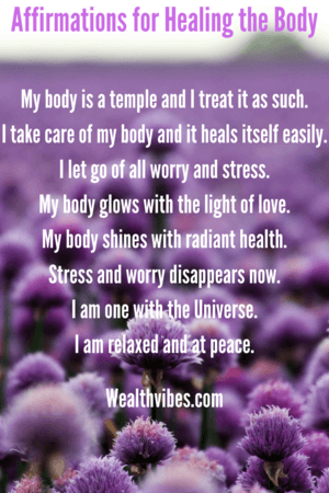 affirmations for healing the body