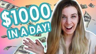 1k in 1 day Lindsays manifesting money success story