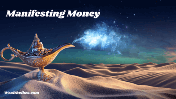 manifesting money quickly with positive affirmations genie lamp on the sands