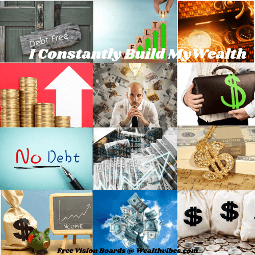 money vision board examples to attract wealth and prosperity