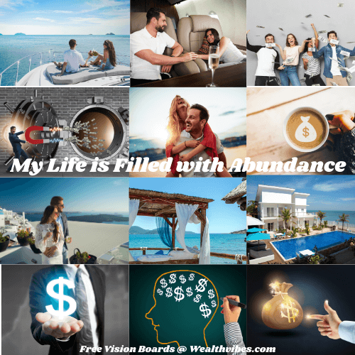 Virtual vision board example abundant life