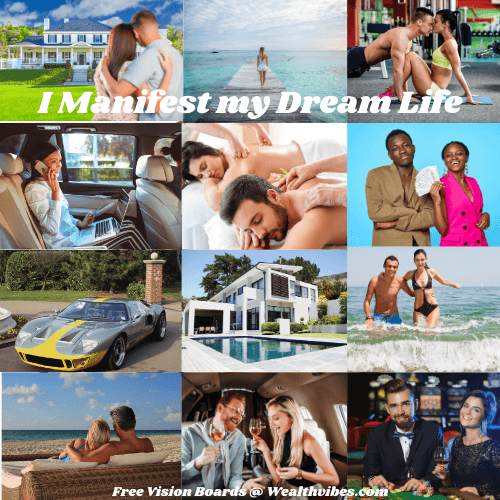 Vision Board Examples Manifesting Dream Life Money Love and Success