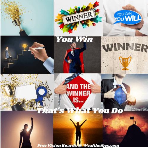 Virtual vision board you are a winner