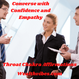 Throat Chakra Affirmations for conversational confidence