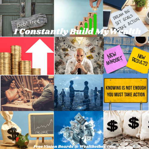 Wealth consciousness digital or virtual vision board