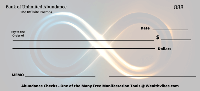 infinity abundance check new moon