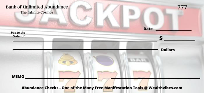 jackpot 777 blank abundance cheque
