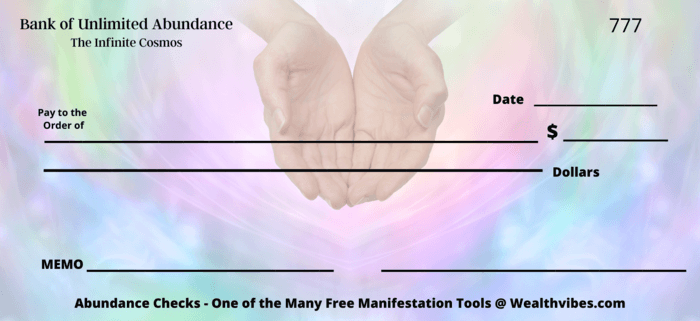 loving hands abundance cheque new moon