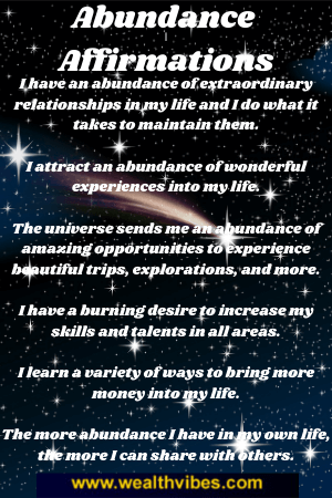 Abundance affirmations