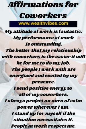 affirmations for coworkers and fellow employees