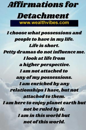 affirmations for detachment