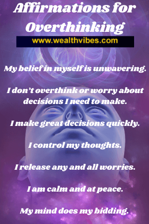 affirmations for overthinking and making great decisions