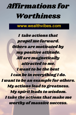 affirmations for worthiness