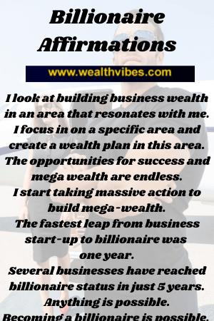 billionaire affirmations