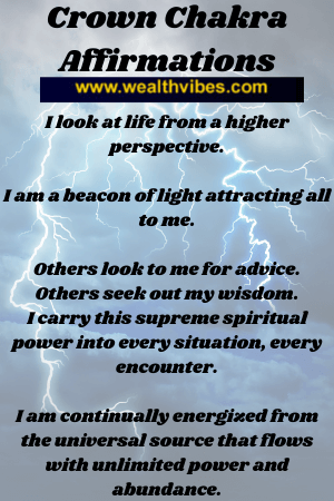 crown chakra affirmations for higher consciousness