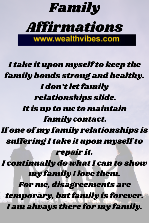 family affirmations list