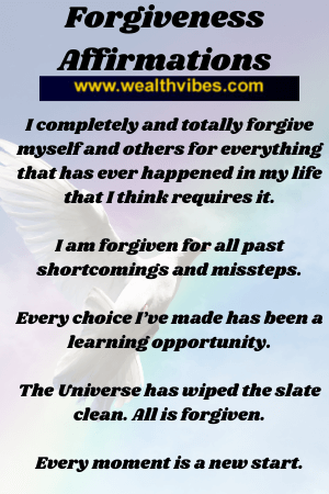 forgiveness affirmations for healing
