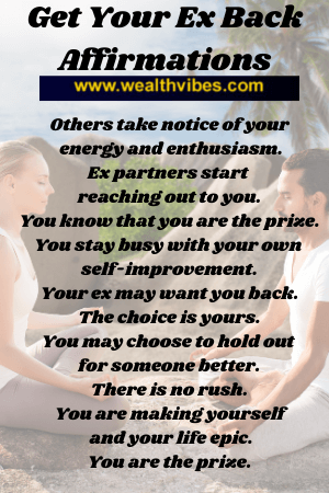 affirmations to get your ex back