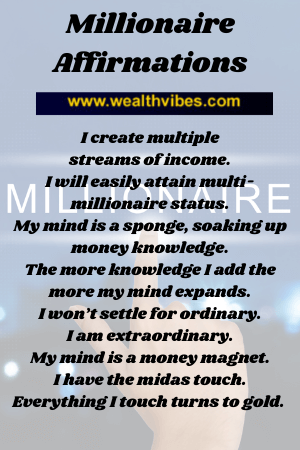 millionaire affirmations to build wealth
