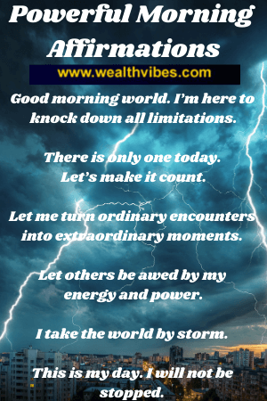 powerful morning affirmations to get energized lightning storm