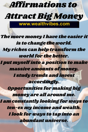 Attract big money fast affirmations