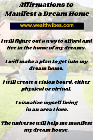 manifest your dream home affirmations
