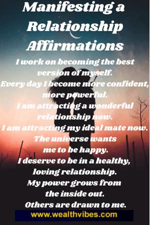 manifesting a relationship affirmations